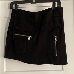 BCBG Black Skirt with Zippers